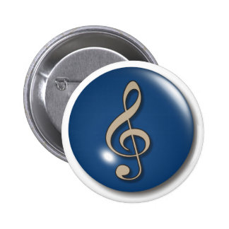 Treble Clef Blue Background Buttons