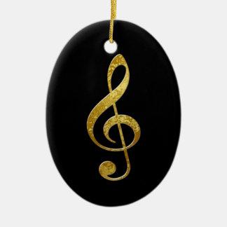 treble clef ceramic ornament