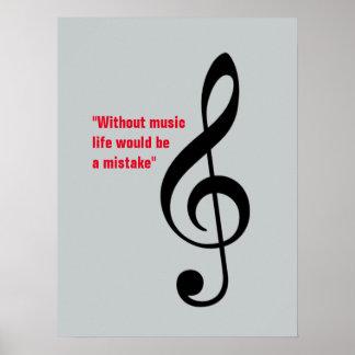 treble clef decor, music_note posters