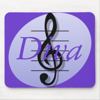 Treble Clef, Diva Mouse Pad