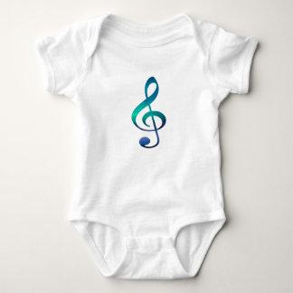 Treble Clef G Music Symbol Baby Jersey Bodysuit