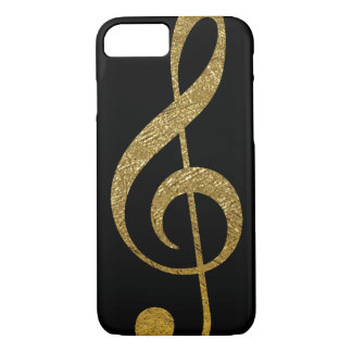 treble clef - golden musical note iPhone 7 case