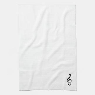 Treble Clef Kitchen Towel