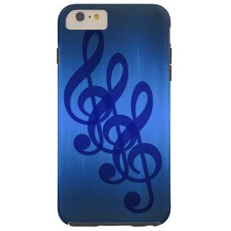 Treble Clef Music Case Blue Beat Tough iPhone 6 Plus Case