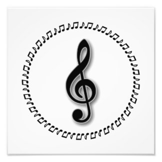 Treble Clef Music Note Design Photographic Print