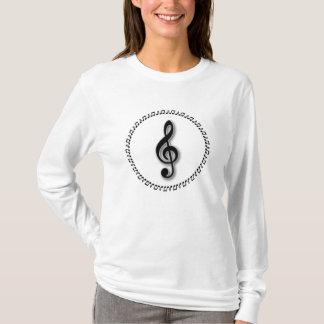 Treble Clef Music Note Design T-Shirt