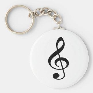 Treble Clef Music Note Key Ring