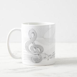 Treble Clef Music Notes Basic White Mug