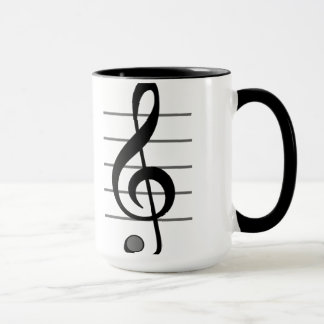 Treble Clef Musical Note Mug