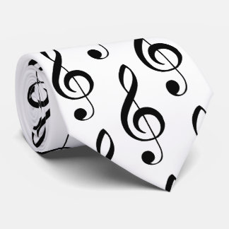 Treble Clef Musical Tie