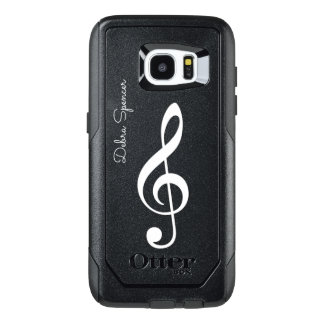 treble clef, personalized music OtterBox samsung galaxy s7 edge case