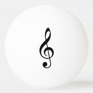 Treble Clef Ping Pong Ball