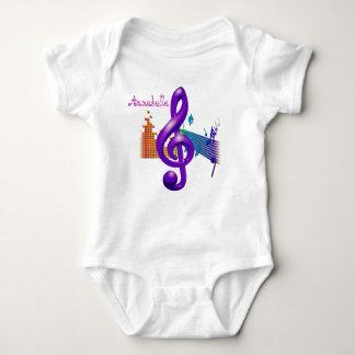 Treble Clef Purple Elegant Design - Customization Baby Bodysuit