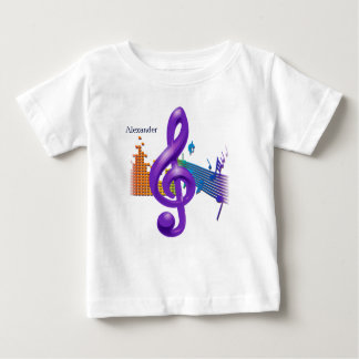 Treble Clef Purple Elegant Design - Customization Baby T-Shirt