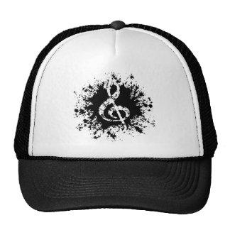 Treble Clef Splat Mesh Hats