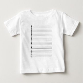 Treble Clef Staves Baby T-Shirt