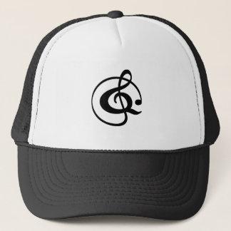 Treble clef trucker hat