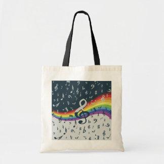 Treble Clef Wave Rainbow Colors