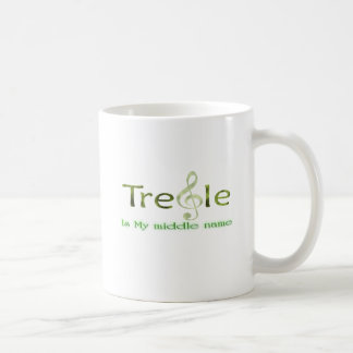 Treble Is My Middle Name Green for Musicians Coffee Mug