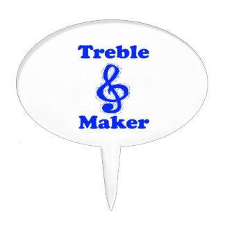 treble maker clef blue music humour cake picks