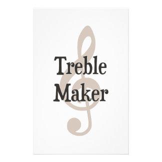Treble Maker Clef Musical Trouble Maker Stationery Design