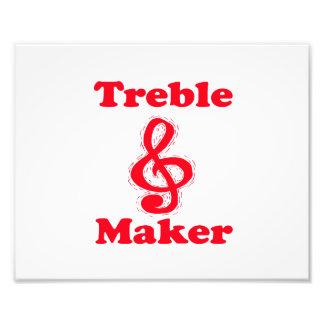 treble maker clef red music design photo
