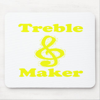 treble maker clef yellow funny music design mouse pads