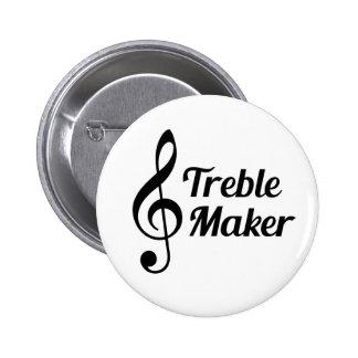 Treble Maker Musical Humour 6 Cm Round Badge