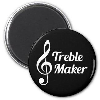 Treble Maker Musical Humour 6 Cm Round Magnet