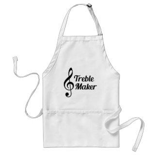 Treble Maker Musical Humour Standard Apron
