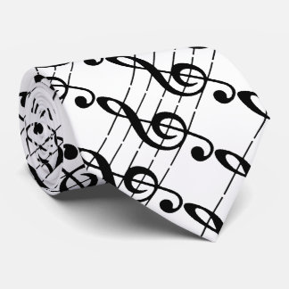 Treble musical note Tie