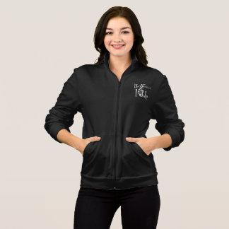 Treble Women's Dark Fleece Zip Jog Jacket