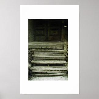 trecherous stairs poster