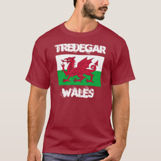 Tredegar, Wales with Welsh flag T-Shirt