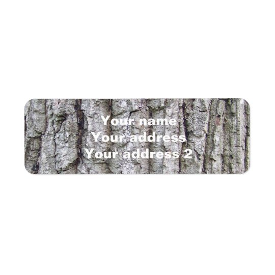 Tree 5 - Oak Tree Bark Return Address Label