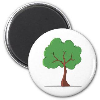 Tree 6 Cm Round Magnet