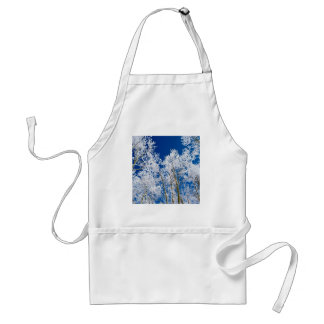Tree A Frosty Afternoon Adult Apron