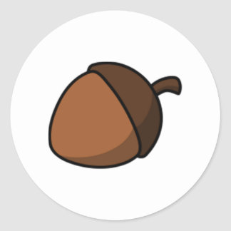 Tree Acorn Classic Round Sticker