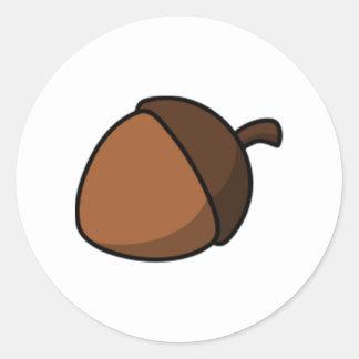 Tree Acorn Round Sticker