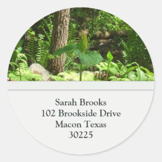 Tree Address Labels Round Stickers