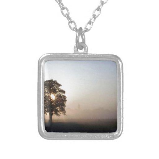 Tree Airfield Shadows Custom Necklace