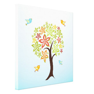 Tree and birds canvas print