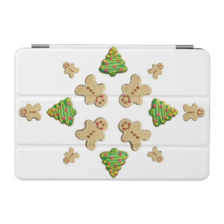 Tree and Gingerbread Man Cookie Snowflake iPad Mini Cover