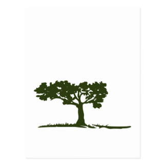 TREE AND GRASS POSTCARD