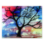 Tree and Ink Transparent Layers Art Photo