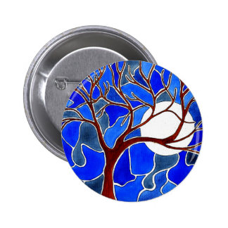 Tree and Moon on Canvas - Blue Pin