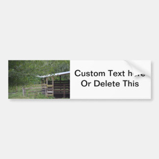 tree and old barn florida photo bumper sticker