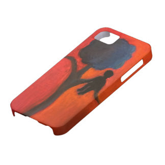 Tree and Person Silhouette Phone Case
