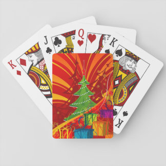 Tree and presents playing cards