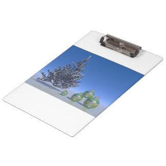 tree and snow and christmas clipboard